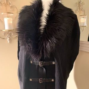 Michael Kors faux fur collar vest